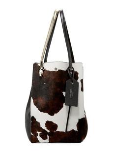 Jimmy Choo Twist Men's Cow-Print Calf-Hair Tote Bag