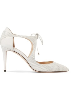 Jimmy Choo Vanessa 100 cutout embossed leather pumps