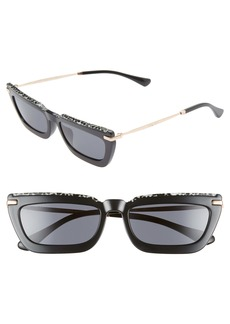 Jimmy Choo Vela 55mm Flat Top Sunglasses