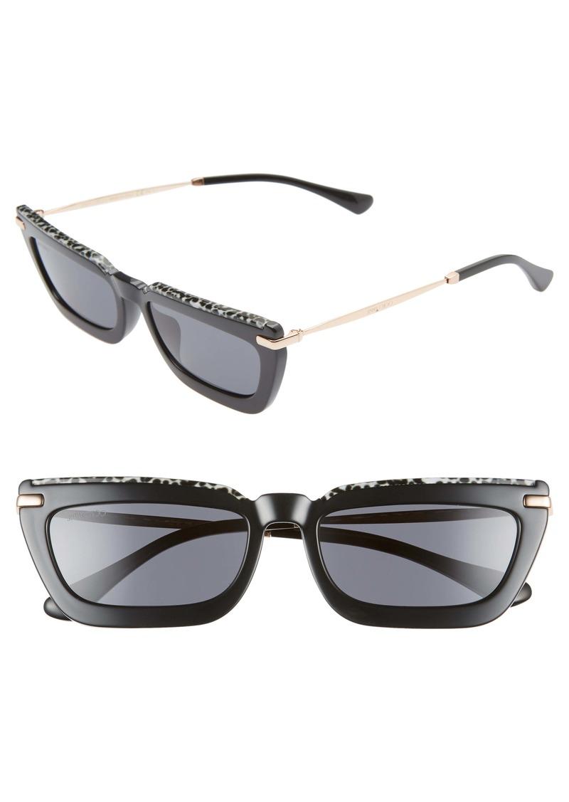 Jimmy Choo Vela 55mm Flat Top Sunglasses