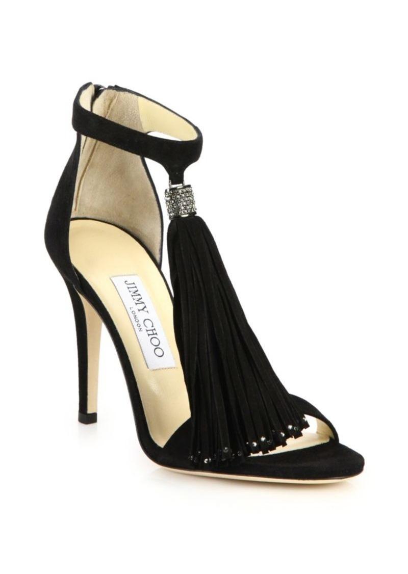 SandalsShoes Choo 125 Suede Crystal Jimmy Viola KcT1JlF
