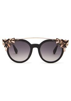 Jimmy Choo Vivy crystal-embellished acetate sunglasses