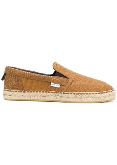 Jimmy Choo Vlad crocodile embossed espadrilles