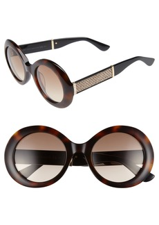Jimmy Choo Wendy 51mm Round Sunglasses