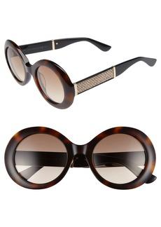 Jimmy Choo Wendy 51mm Round Sunglasses