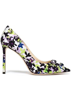 Jimmy Choo Woman Appliquéd Printed Satin Pumps Lilac