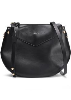 Jimmy Choo Woman Artie Leather Shoulder Bag Black