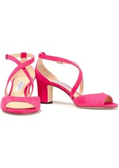Jimmy Choo Woman Carrie 65 Suede Sandals Pink
