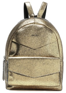 Jimmy Choo Woman Cassie Appliquéd Leather Backpack Gold