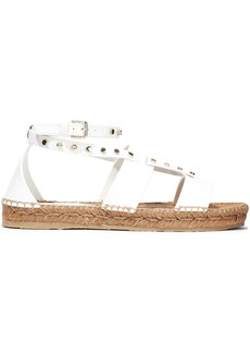 Jimmy Choo Woman Denise Studded Leather Espadrille Sandals White