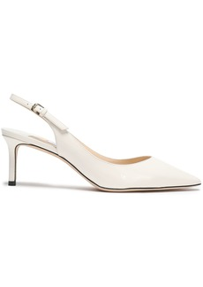 Jimmy Choo Woman Erin 60 Patent-leather Slingback Pumps Off-white