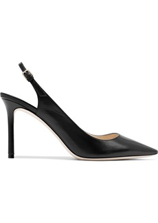 Jimmy Choo Woman Erin 85 Leather Slingback Pumps Black