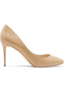 Jimmy Choo Woman Esme 85 Leather Pumps Beige
