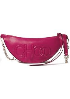 Jimmy Choo Woman Faye Embossed Leather Shoulder Bag Magenta