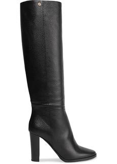 Jimmy Choo Woman Haywood 95 Pebbled-leather Knee Boots Black