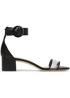 Jimmy Choo Woman Jaimie 40 Leather And Pvc Sandals Black