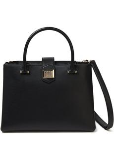 Jimmy Choo Woman Marianne Textured Leather Shoulder Bag Black