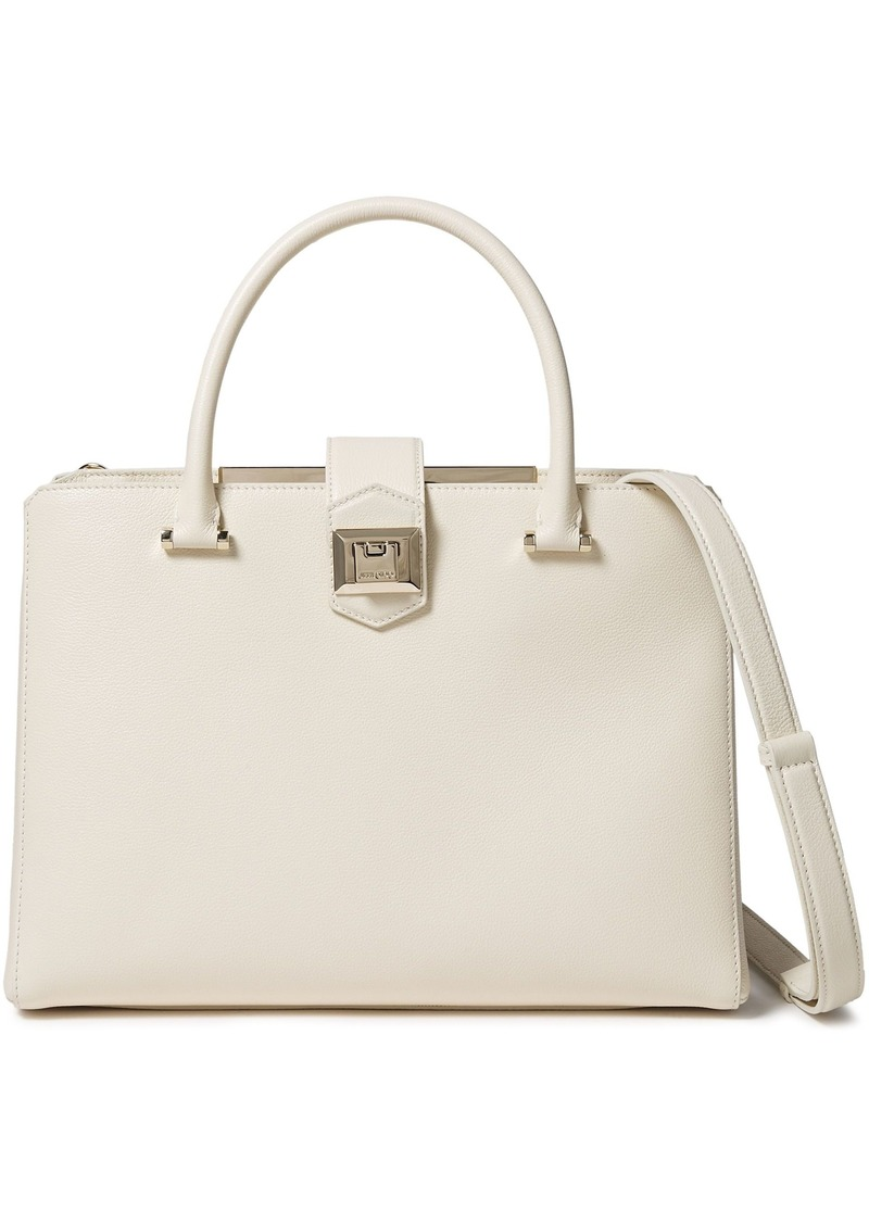 Jimmy Choo Woman Marianne Textured Leather Shoulder Bag Cream