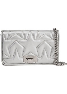 Jimmy Choo Woman Metallic Quilted Leather Clutch Silver