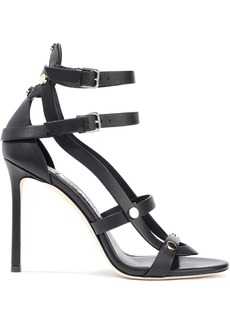 Jimmy Choo Woman Motoko 100 Studded Leather Sandals Black