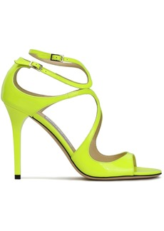 Jimmy Choo Woman Patent-leather Sandals Bright Yellow
