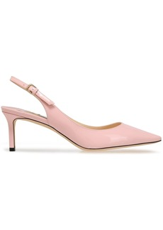 Jimmy Choo Woman Patent-leather Slingback Pumps Baby Pink