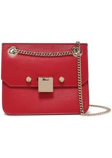 Jimmy Choo Woman Rebel Two-tone Leather Shoulder Bag Crimson