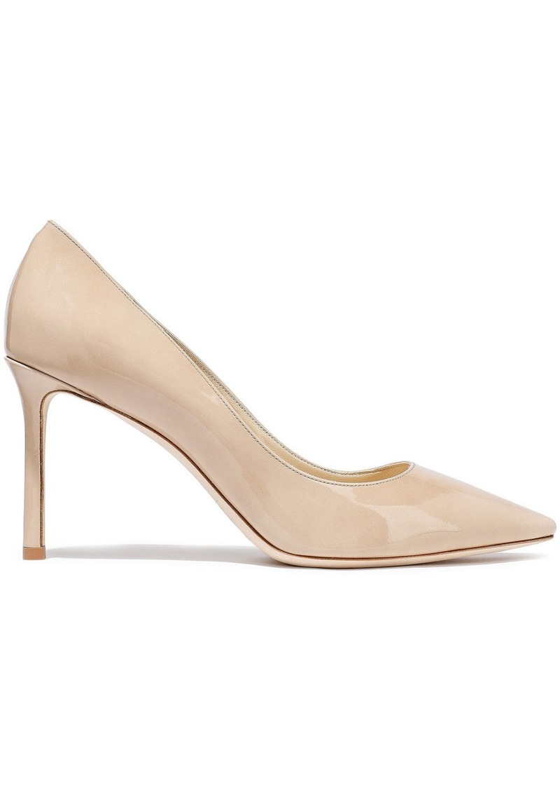 Jimmy Choo Woman Romy 85 Patent-leather Pumps Beige