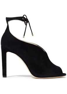 Jimmy Choo Woman Sayra 105 Suede Pumps Black