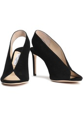 Jimmy Choo Woman Shar 85 Suede Slingback Pumps Black