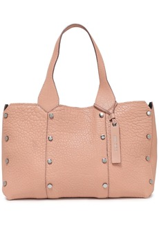 Jimmy Choo Woman Studded Textured-leather Tote Blush