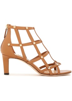 Jimmy Choo Woman Tina 65 Studded Cutout Leather Sandals Light Brown