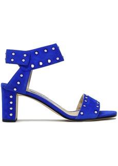 Jimmy Choo Woman Veto 65 Studded Suede Sandals Cobalt Blue