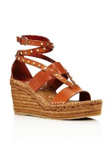 Jimmy Choo Women's Danica 80 Leather Platform Wedge Sandals