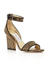 Jimmy Choo Women's Edina Raffia Flattened Heel Sandals
