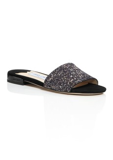 Jimmy Choo Women's Joni Glitter Slide Sandals