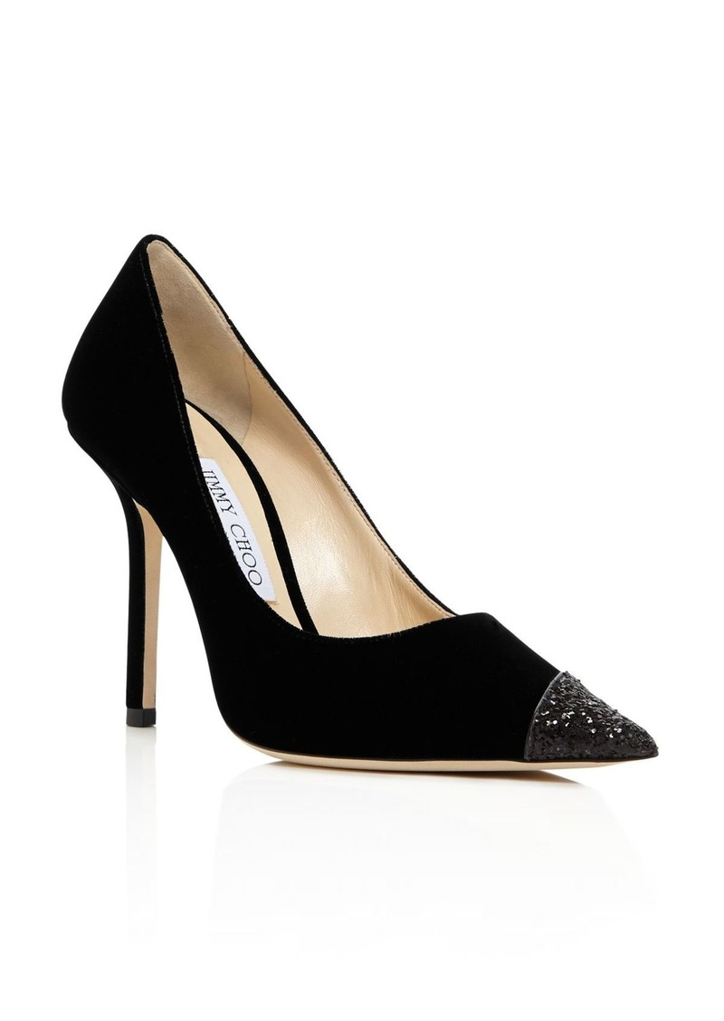 Jimmy Choo Women's Love 100 Embellished Pointed Toe Pumps