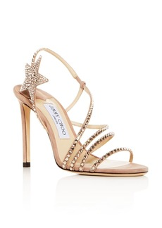 Jimmy Choo Women's Lynn 100 Embellished Slingback High-Heel Sandals