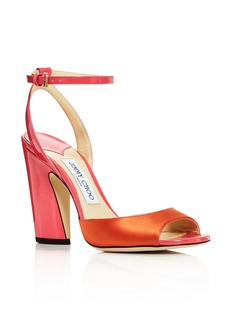 Jimmy Choo Women's Miranda 100 Mixed-Media Color-Block High-Heel Sandals