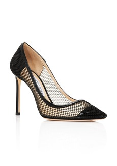 Jimmy Choo Women's Romy 100 Mesh Pumps