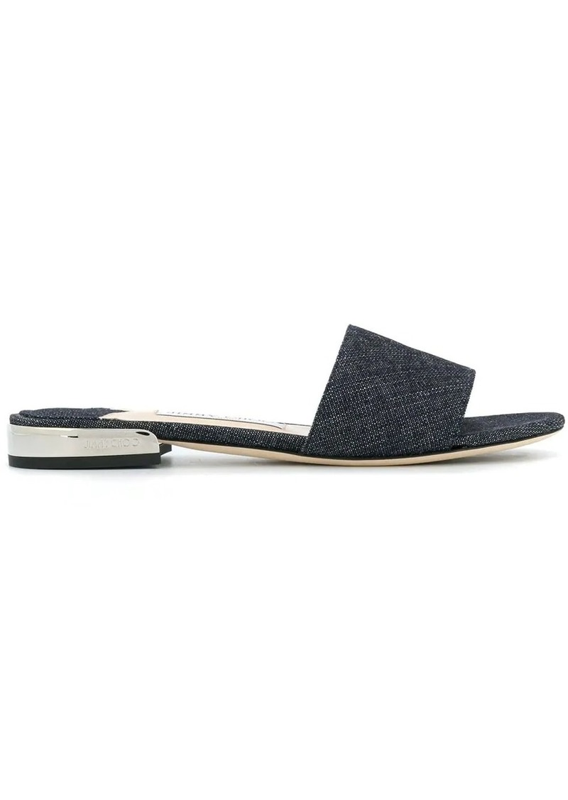 Jimmy Choo Joni denim slides