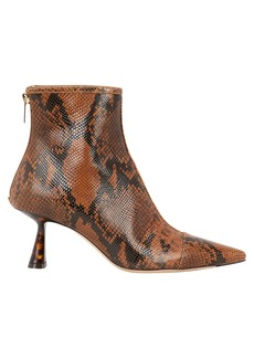 Jimmy Choo Kix Snakeskin-Printed Booties