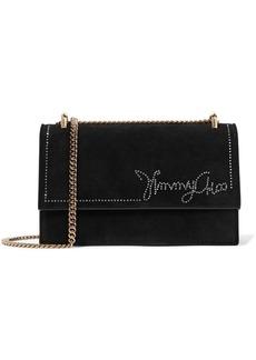 Jimmy Choo Leni Crystal-embellished Suede Shoulder Bag