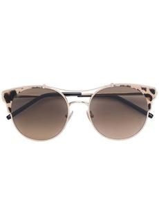 Jimmy Choo leopard print round frame sunglasses