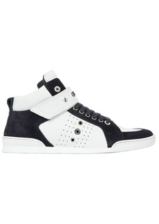 Jimmy Choo Lewis High Top Leather & Suede Sneakers