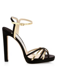 Jimmy Choo Lilah Platform Metallic Sandals