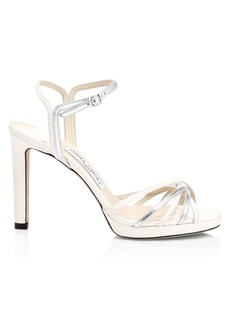 Jimmy Choo Lilah Metallic Leather Sandals