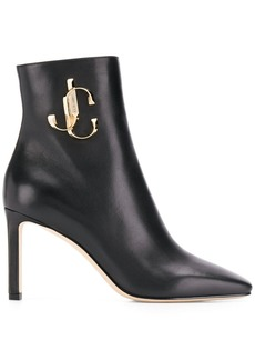Jimmy Choo logo plaque booties