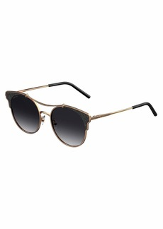 Jimmy Choo Lues Round Metal Sunglasses