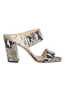Jimmy Choo Matty 85 Snake-Embossed Leather Sandals